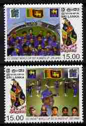 Sri Lanka 2007 Cricket World Cup - Runners-up perf set of 2 unmounted mint SG 1876-77