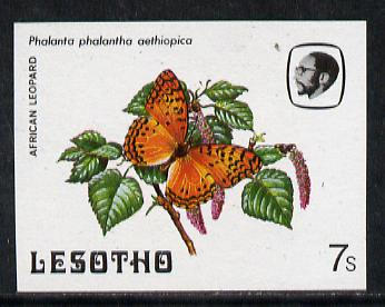 Lesotho 1984 Butterflies African Leopard 7s imperf proof with background colour omitted unmounted mint