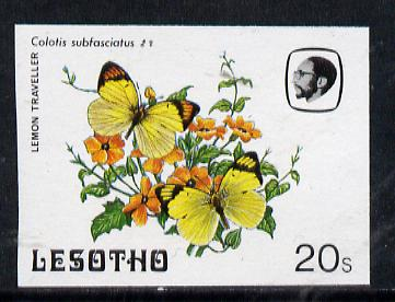 Lesotho 1984 Butterflies Lemon Traveller 20s imperf proof with background colour omitted