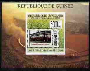 Guinea - Conakry 2009 Trains on Stamps #2 individual imperf deluxe sheetlet unmounted mint. Note this item is privately produced and is offered purely on its thematic appeal