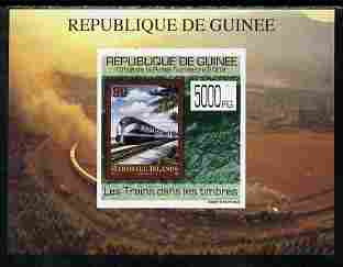 Guinea - Conakry 2009 Trains on Stamps #3 individual imperf deluxe sheetlet unmounted mint. Note this item is privately produced and is offered purely on its thematic appeal