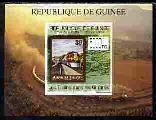 Guinea - Conakry 2009 Trains on Stamps #4 individual imperf deluxe sheetlet unmounted mint. Note this item is privately produced and is offered purely on its thematic appeal