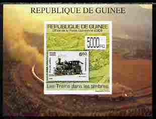 Guinea - Conakry 2009 Trains on Stamps #6 individual imperf deluxe sheetlet unmounted mint. Note this item is privately produced and is offered purely on its thematic appeal