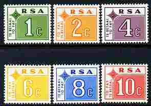South Africa 1972 Postage Due set of 6 unmounted mint SG D75-80