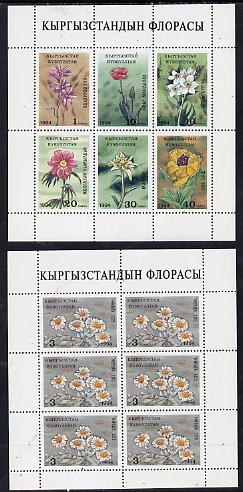 Kyrgyzstan 1994 Flowers two sheetlets of 6 (set of 7 stamps) unmounted mint