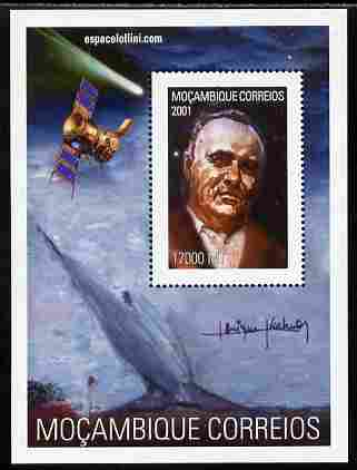 Mozambique 2001 Scientists - Sergey Korolev perf s/sheet unmounted mint. Note this item is privately produced and is offered purely on its thematic appeal