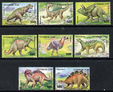 Tadjikistan 1995 Dinosaurs set of 8 unmounted mint, SG 50-57