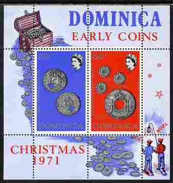 Dominica 1972 Coins perf m/sheet unmounted mint, SG MS 351
