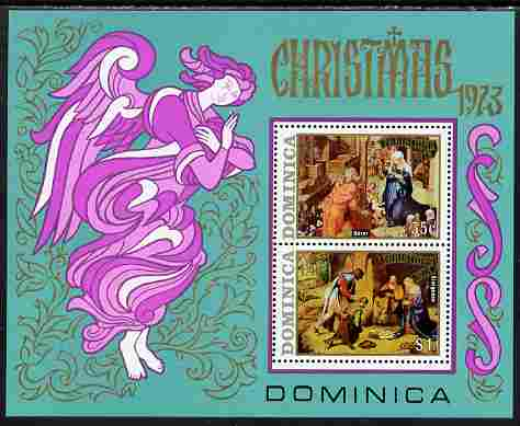 Dominica 1973 Christmas Paintings perf m/sheet unmounted mint, SG MS 404