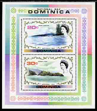 Dominica 1972 National Day perf m/sheet containing 2 values unmounted mint, SG MS 365