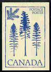 Booklet - Canada 1979 Flowers & Trees - Douglas Fir 50c booklet (blue on crean cover) complete and pristine, SG SB 86h