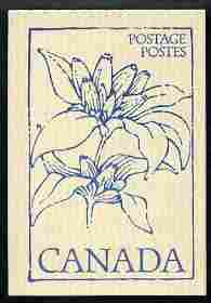 Booklet - Canada 1979 Flowers & Trees - Bottle Gentium 50c booklet (blue on crean cover) complete and pristine, SG SB 86a