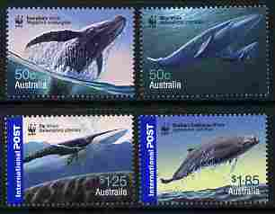 Australia 2006 WWF - Endangered Species - Whales perf set of 4 unmounted mint SG 2659-62, stamps on , stamps on  wwf , stamps on whales, stamps on dolphins