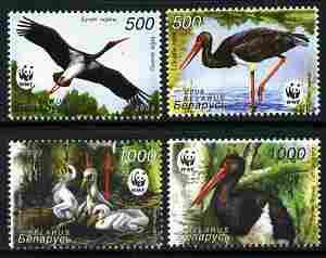 Belarus 2005 WWF - Endangered Species - Black Stork perf set of 4 unmounted mint SG 630-33