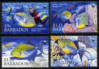 Barbados 2006 WWF - Endangered Species - Triggerfish perf set of 4 unmounted mint SG 1290-93