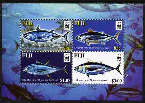 Fiji 2004 WWF - Endangered Species - Tuna perf m/sheet containing set of 4 values unmounted mint SG MS 1217