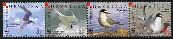 Croatia 2006 WWF - Endangered Species - Little Tern perf set of 4 unmounted mint SG 854-7