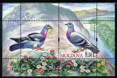 Moldova 2010 Birds - Pigeons perf s/sheet containing 2 values unmounted mint