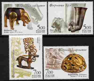Russia 2005 Artefacts from Filippov Burial Ground set of 4 unmounted mint, SG 7323-26