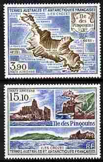French Southern & Antarctic Territories 1988 Penguin Island set of 2 unmounted mint, SG 240-41