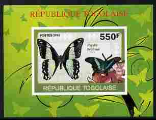 Togo 2010 Butterflies #2 individual imperf deluxe sheetlet unmounted mint. Note this item is privately produced and is offered purely on its thematic appeal