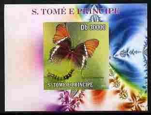 St Thomas & Prince Islands 2009 Butterflies & Catterpillars #1 individual imperf deluxe sheetlet unmounted mint. Note this item is privately produced and is offered purely on its thematic appeal