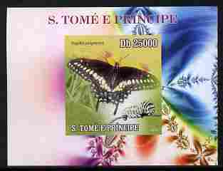 St Thomas & Prince Islands 2009 Butterflies & Catterpillars #2 individual imperf deluxe sheetlet unmounted mint. Note this item is privately produced and is offered purely on its thematic appeal