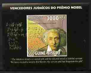 St Thomas & Prince Islands 2009 Albert Einstein #1 individual imperf deluxe sheetlet unmounted mint. Note this item is privately produced and is offered purely on its thematic appeal