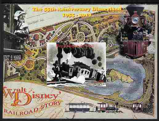 Mali 2010 The 55th Anniversary of Disneyland - Walt Disney's Railroad Story #02 imperf s/sheet unmounted mint. Note this item is privately produced and is offered purely on its thematic appeal