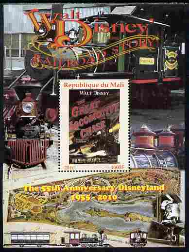 Mali 2010 The 55th Anniversary of Disneyland - Walt Disney's Railroad Story #07 perf s/sheet unmounted mint. Note this item is privately produced and is offered purely on its thematic appeal
