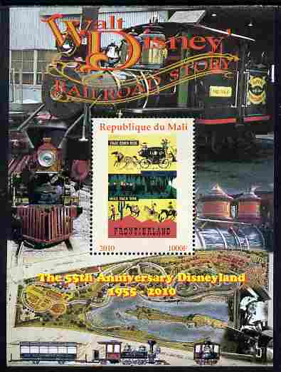 Mali 2010 The 55th Anniversary of Disneyland - Walt Disney's Railroad Story #08 perf s/sheet unmounted mint. Note this item is privately produced and is offered purely on its thematic appeal