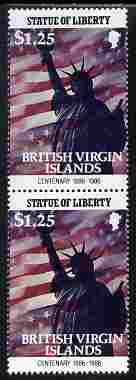 British Virgin Islands 1986 Statue of Liberty Centenary $1.25 similar to m/sheet but from the unique multi-country sheet intended for a special first day cover but never ...