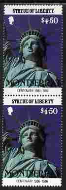 Montserrat 1986 Statue of Liberty Centenary $4.50 similar to m/sheet but from the unique multi-country sheet intended for a special first day cover but never issued, unmo...