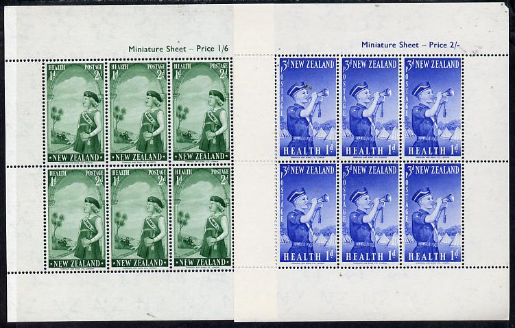 New Zealand 1958 Health - Girls' & Boys' Brigades set of 2 m/sheets unmounted mint SG MS 765a