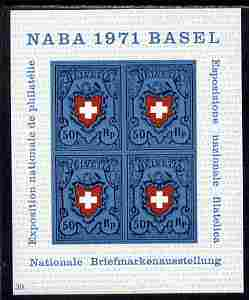 Switzerland 1971 Stamp Exhibition imperf m/sheet unmounted mint SG MS 810