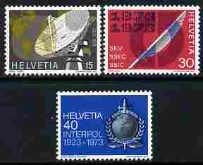Switzerland 1973 Publicity Issue perf set of 3 unmounted mint SG 844-46