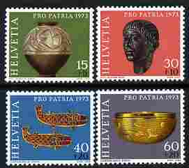Switzerland 1973 Pro Patria - Archaeological Discoveries perf set of 4 unmounted mint SG 869-72