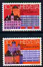 Switzerland 1974 UPU Congress perf set of 2 unmounted mint SG 885-86