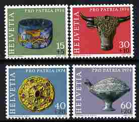 Switzerland 1974 Pro Patria - Archaeological Discoveries perf set of 4 unmounted mint SG 887-90