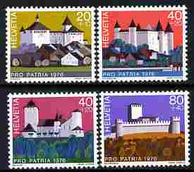 Switzerland 1976 Pro Patria - Swiss Castles perf set of 4 unmounted mint SG 915-18