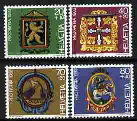 Switzerland 1983 Pro Patria - Inn Signs perf set of 4 unmounted mint SG 1056-59