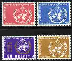 Switzerland - World Meteorological Organisation 1973 Centenary of WMO perf set of 4 unmounted mint SG LM10-13