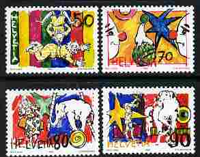 Switzerland 1992 The Circus perf set of 4 unmounted mint SG 1251-54