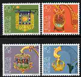 Switzerland 1982 Pro Patria - Inn Signs perf set of 4 unmounted mint SG 1030-33