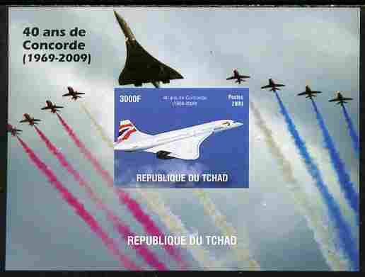 Chad 2010 40th Anniversary of Concorde imperf s/sheet unmounted mint. Note this item is privately produced and is offered purely on its thematic appeal