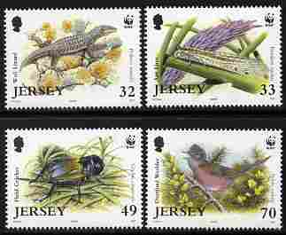 Jersey 2004 WWF - Endangered Species perf set of 4 unmounted mint SG 1158-61
