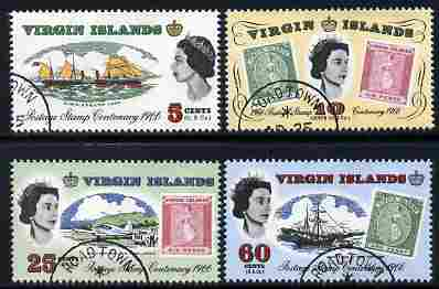 British Virgin Islands 1965 Stamp Centenary perf set of 4 fine cds used, SG 203-06*