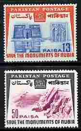 Pakistan 1964 Nubian Monuments Preservation perf set of 2 unmounted mint SG 211-12