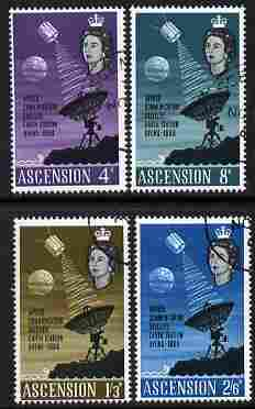 Ascension 1966 Opening of Apollo Communications Satellite perf set of 4 fine cds used, SG 99-102*