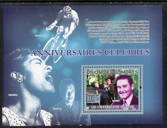 Comoro Islands 2009 Famous Birthdays perf s/sheet unmounted mint Michel BL501